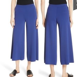 Theory Henriet K Lustrate Wide Leg Crop Pants NWOT